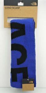 THE NORTHFACE LOGO SCARF Blue w/Black Logo Winter Scarf Unisex $50 NEW