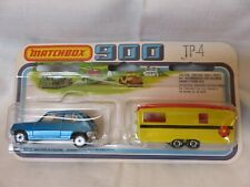 1978 Matchbox SuperFast 900 Blue Renault Yellow Caravan TP-4 England Die-Cast