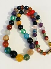 necklace 47g mixed and matched vintage glass & hardstone beads