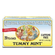 LIMITED EDITION Celestial Seasonings Tummy Mint Herbal Tea 20 Count