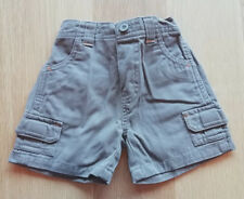 Boys Taupe Cargo Shorts - Size: 0-3 Months