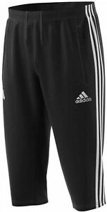 Adidas Tango New 3/4 Football Pant Capri Shorts Black Size Small RRP £45.99