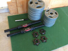 65 LB Fully Adjustable Dumbbell Barbell Weights (BRAND NEW FAST SHIP)