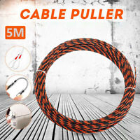 5m Draw Tape Fiberglass Electrical Fish Cable Wire Wheel Puller Pulling