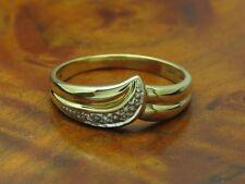 18kt 750 GOLD RING MIT DIAMANT BESATZ / GOLDRING DIAMANTRING