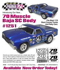 Parma CLEAR 70 CHEVY EL CAMINO CHEVROLET MUSCLE Body SHORT COURSE SLASH PAR1251