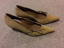 BRUNO MAGLI CAMEL SUEDE COURT SHOES SIZE 36 UK 3
