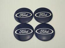 56mm Wheel Hub Caps Emblem Badge Logo Decal Sticker Ford Blue u5651