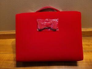 Estee Lauder Red Velvet Cosmetic Makeup Bag Train Case 2020 New