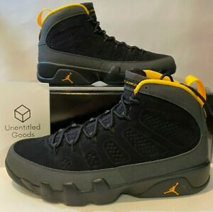 Jordan 9 Retro Dark Charcoal University Gold - Size 13 - FREE SHIPPING