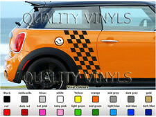 BMW MINI CHEQUERED GRAPHICS ONE D JCW COOPER S CLUBMAN DECAL STICKERS P14