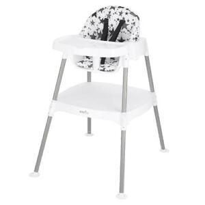 Convertible High Chair Toddler Baby Infant Durable Construction Pop Star Gray