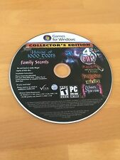 HOUSE OF 1000 DOORS FAMILY SECRETS COLLECTOR'S EDITION + 3 BONUS PC GAMES NEW JC