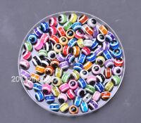 40pcs 100pcs charm Acrylic evil eye round resin spacer beads loose bead 6mm