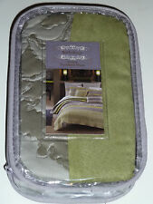 "*New*Anthology Wisteria Quilted Pillow Sham Bed 20""X26"" Standard Greens Multi"