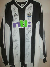 Newcastle United 2001-2003 match worn signé home football chemise avec coa / 21936