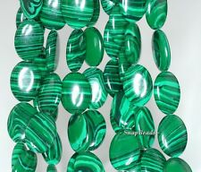 HEDGE MAZES MALACHITE GEMSTONE GREEN OVAL 16X12MM LOOSE BEADS 7.5""