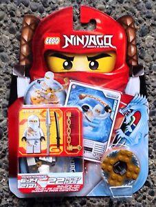 LEGO 2171 Ninjago ZANE DX  Minifigure WHITE DRAGON NINJA Spinner New in Box NIB
