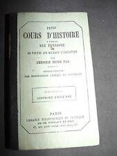 Petit cours d'histoire a l'usage des pensions et maisons d'education... 1876