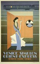 Art Deco Orient Express Venice Poster A3 Reprint