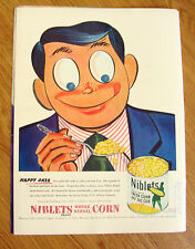 1948 Green Giant Ad Niblets Whole Kernel Corn   Happy Daze