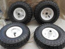 "4 - 10"" Tire Air Pneumatic Steel Rim Hand Truck Dolly, Wagon Wheel inch"