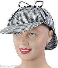 Adult Mens Ladies Sherlock Holmes Detective Deerstalker Fancy Dress Costume Hat