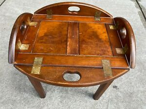 Vintage Bombay Company Butler Tray With Stand Fold Up Side Handles