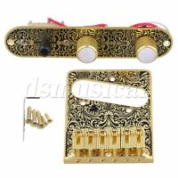 Gold Blavk 3Way Control Plate Electric Guitar Tremolo Bridge Replacement