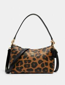 🐆Coach Lewis Shoulder Bag With Leopard Print 🐆 ~ NWT