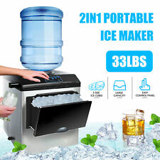 Electric 5 Gallon Water Dispenser Built-In Ice Maker Machine Countertop Portable