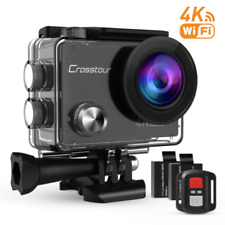 Crosstour 4K Sports Action Camera WIFI 16MP Ultra HD Waterproof Underwater Camco