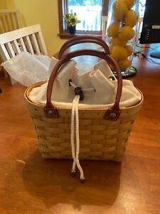 Longaberger Boardwalk Basket & linera
