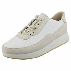 Clarks Originals Kiowa Pace Mens White Leather Casual Shoes