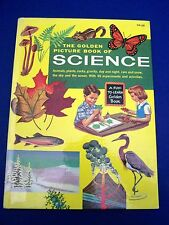 Vintage 1957 Golden Picture BOOK OF SCIENCE Fun-to-Learn CHILDRENS HC Book RARE
