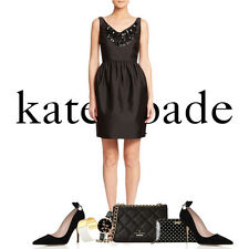 NEW Kate Spade Embellished Cupcake Dress Size 8 Black $598 Lovely Tres Chic