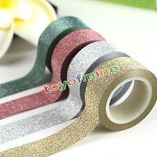 10m ruban paillettes washi papier adhésif coller sur sticky Craft DIY décoratif