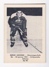 1951-52 QSHL Laval Dairy Subset # 90 Bernie Lemonde - NrMt-Mt