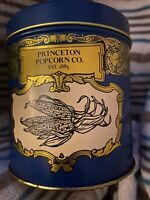 VINTAGE PRINCETON POPCORN CO EST 1885 PIC COLLECTIBLE CANISTER TIN