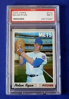 1970 TOPPS NOLAN RYAN  BASEBALL CARD #712 ~ High Number ~ BEAUTY !! PSA 7