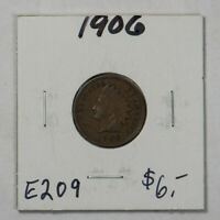 1906 1c INDIAN HEAD SMALL CENT LOT#E209