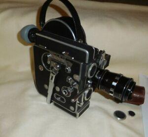 1965 BOLEX H8 REX-4 REFLEX MOVIE CAMERA/SCHNEIDER-KREUZNACH f/2.8 75MM ZOOM LENS