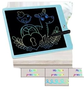 FLUESTON LCD Writing Tablet 10 Inch Drawing Pad, Colorful Screen Doodle Board FS