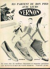 A- Publicité Advertising 1964 Vernon les chaussures baskets pour jeunes
