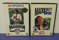 John Madden NFL Football 94 + 95 EA - Sega Genesis Working Tested - 2 Game Lot