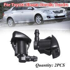 2Pcs Windshield Wiper Spray Jet Washer Nozzle Fit Toyota Sienna Corolla Tundra