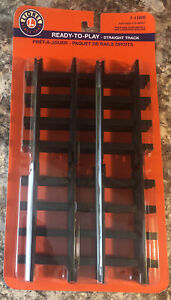 NEW Lionel Ready To Play Straight Track Train Track 12 Pieces 7-11826