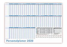 Urlaubsplaner DIN B2 2020 nass abwischbar Personalplaner 22 Mitarbeiter 70x50cm