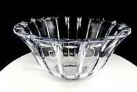 """BRILLIANT LEAD CRYSTAL HEAVY CONTEMPORARY FLUTED PANEL SAW TOOTH RIM 9 7/8"""" BOWL"""