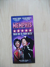 **Memphis The Musical Flyer At Shaftesbury Theatre London Opens as 3 Great Con**
